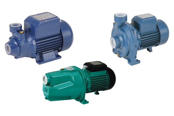 Buildings water pump on electric motor valve
